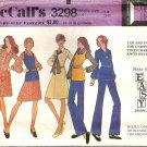 Misses 70s Dress Blouse Top Pants Sewing Pattern Size 14 McCalls 3298