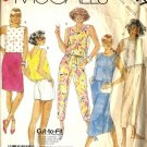 Misses Top Skirt Pants Shorts Sewing Pattern McCalls 3117 S 10, 12, 14