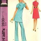 McCalls 2830 Misses Retro Dress, Pants, Tunic Sewing Pattern Size 14