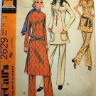 Misses 70s Top Pants Retro Sewing Pattern McCalls 2629 Size 14