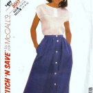 Misses Top, Skirt Vintage Sewing Pattern McCalls 2017 Size 12, 14, 16
