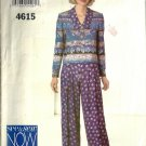 Misses Top, Pants Sewing Pattern Butterick 4615 Size 6, 8, 10