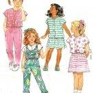 Girls Dress Top Skirt Pants Sewing Pattern Butterick 4670 Size 4, 5, 6