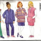 Girls Top, Skirt, Pants Sewing Pattern Butterick 4597 Size 7, 8, 10
