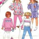 Girls Sweat Top, Pants, Skirt Sewing Pattern Butterick 3994 Sz 4, 5, 6