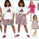 Girls Dress Top Shorts Leggings Sewing Pattern 7, 8, 10 Butterick 3465