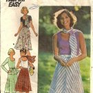 Misses 70s Top, Skirt, Scarf Sewing Pattern Butterick 4149 Size 16