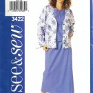 Misses Jacket, Top, Skirt Sewing Pattern Butterick 3422 Size 12, 14, 16