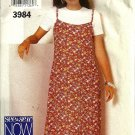 Misses 90s Dress, Top Sewing Pattern Butterick 3984 Size 12, 14, 16