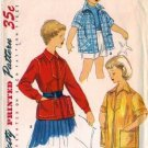 Girls Jacket, Smock 50s Vintage Sewing Pattern Simplicity 4991 Size 10