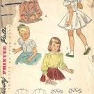 Girls 40s Blouse Petticoat Combo Sewing Pattern Simplicity 2534 Size 5