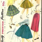Girls Flared, Pleated, Slim Skirt Sewing Pattern Simplicity 1783 Sz 10