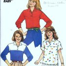 Girls Pullover Top, Shirt Sewing Pattern Butterick 3351 Size 7