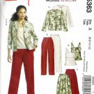 Misses Jacket Top Skirt Pants Sewing Pattern McCalls 5363 6, 8, 10, 12