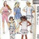 McCalls 5376 Girls Top, Leggings Sewing Pattern Size 7, 8, 10