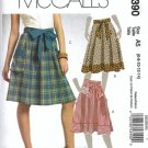 McCalls 5390 Misses Skirts, Belts Sewing Pattern Size 6, 8, 10, 12, 14