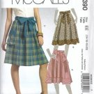 McCalls 5390 Misses Skirts, Belts Sewing Pattern Size 14, 16, 18, 20
