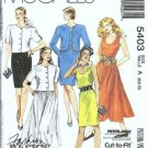 McCalls 5403 Misses Dress Jacket Vintage Sewing Pattern Size 6, 8, 10