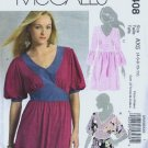 McCalls 5408 Misses Long Tops Sewing Pattern Size 4, 6, 8, 10, 12