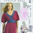 McCalls 5408 Misses Long Tops Sewing Pattern Size 14, 16, 18, 20