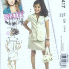 McCalls 5417 Girls Jacket Skirt Hilary Duff Sewing Pattern Sz 7, 8, 10