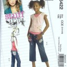 McCalls 5422 Girls Sewing Pattern Halter Top, Capri Pants S 3, 4, 5, 6