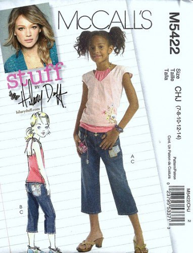 McCalls 5422 Girls Sewing Pattern Halter Top, Capris Size 7, 8, 10, 12, 14