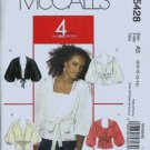 McCalls 5428 Misses Shrug, Top Sewing Pattern Size 6, 8, 10, 12, 14