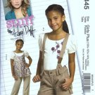 McCalls 5445 Sewing Pattern Girls Top Shorts Pants Plus 10, 12, 14, 16