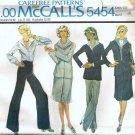 McCalls 5454 Misses Halston Jacket, Skirt, Pants Sewing Pattern Sz 12