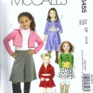 McCalls 5456 Girls Tops Sewing Pattern Size 2, 3, 4, 5 Uncut