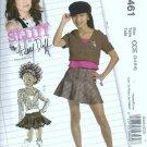 McCalls 5461 Girls Hoodie Top Skirt Sewing Pattern Size 3, 4, 5, 6