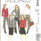McCalls 5482 Misses Wrap Jacket Skirt Pants Sewing Pattern Sz 6, 8, 10, 12, 14