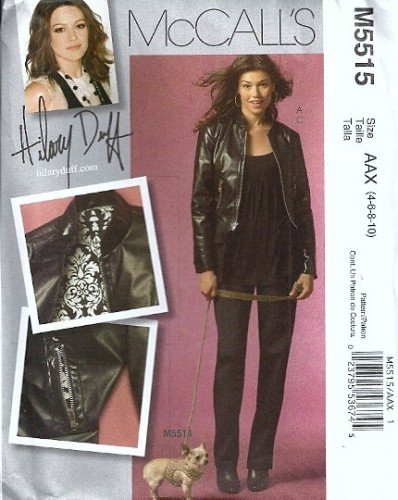 Mccalls 5515 Misses Leather Jacket Pants Sewing Pattern Size 4 6