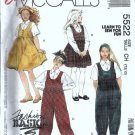 McCalls 5522 Girls Jumper, Jumpsuit, Shirt Sewing Pattern Size 7,8,10