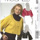 McCalls 5528 Misses Cropped Jacket Sewing Pattern Size 14, 16, 18, 20