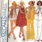 McCalls 5545 Misses Maternity Dress, Top, Jacket Sewing Pattern Sz 10