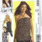 Hilary Duff Top, Tunic Sewing Pattern McCalls 5585 Size 12, 14, 16, 18
