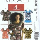 McCalls 5588 Sewing Pattern Misses Top, Tunic Size 6, 8, 10, 12 Uncut