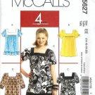 Misses Tunics Sewing Pattern McCalls 5627 Size 14, 16, 18, 20 Uncut