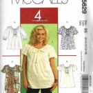 McCalls 5629 Misses Top, Dress Sewing Pattern Size 8, 10, 12, 14, 16