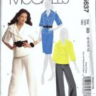 McCalls 5637 Misses Jacket Skirt Pants Sewing Pattern Size 8, 10, 12, 14