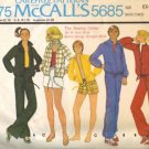 Men/Misses Sewing Pattern Jacket Pants Shorts McCalls 5685 Size XSmall