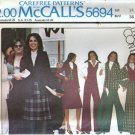McCalls 5694 Misses Jacket Skirt Shawl Vintage Sewing Pattern Sz 14
