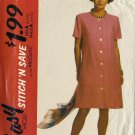 McCalls 5787 Misses Front Button Dress Sewing Pattern Size 6, 8, 10