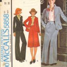 Misses 70s Jacket, Skirt, Pants Sewing Pattern Size 12 McCalls 5858