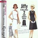 Simplicity 5508 Misses Basic Dress 60s Vintage Sewing Pattern Size 16