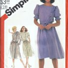 Simplicity 5543 Misses Asymmetrical Dress Vtg Sewing Pattern Size 8