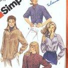 Simplicity 5547 Misses Raglan Shirt Vintage Sewing Pattern Size 14