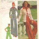Simplicity 5750 Misses 70s Shirt Jacket, Pants Sewing Pattern Size 12